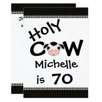Convite de aniversário santamente engraçado do 70