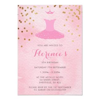 Convite de aniversário temático da bailarina