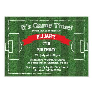 Convite de aniversário temático do futebol