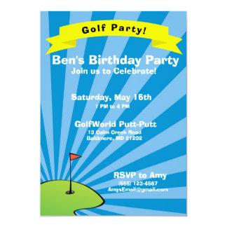 Convite de aniversário temático Golfing