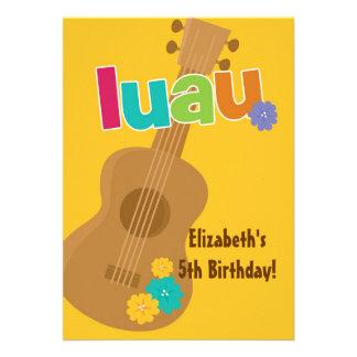 Convite de aniversário tropical BONITO de Luau