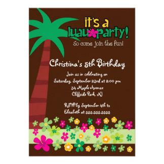 Convite de aniversário tropical bonito do partido