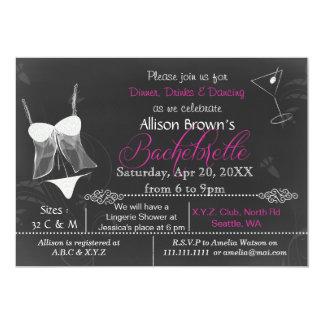 Convite de Bachelorette do chá da lingerie do