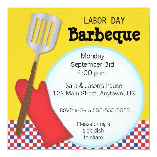 Convite de Barbaque do Dia do Trabalhador