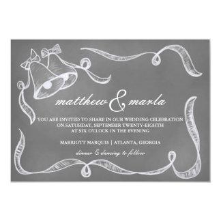 Convite de Bels de casamento do quadro do vintage