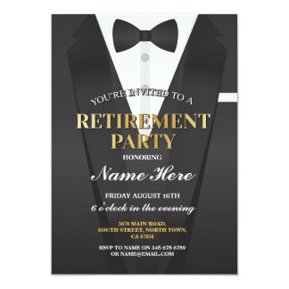 Convite de Bowtie do partido de aposentadoria do