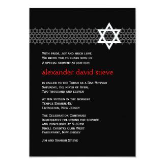 Convite de brilho de Mitzvah do bar da estrela