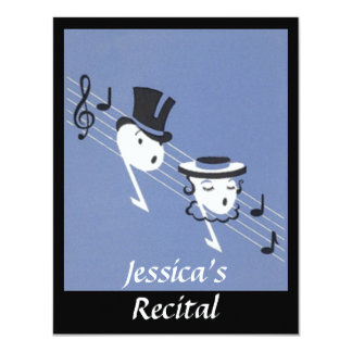 CONVITE de Caroling do coro das notas musicais do