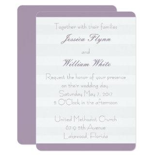 Convite de casamento branco da listra