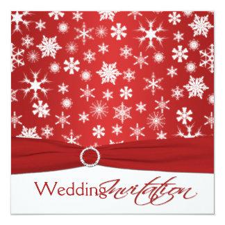Convite de casamento branco vermelho IMPRESSO dos