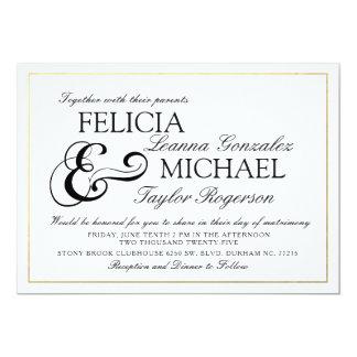 Convite de casamento clássico branco elegante do