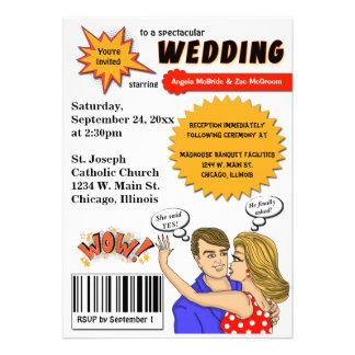 Convite de casamento colorido do cobrir de banda d
