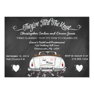 Convite de casamento convertível do cargo do