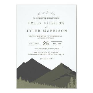 Convite de casamento da floresta da floresta da