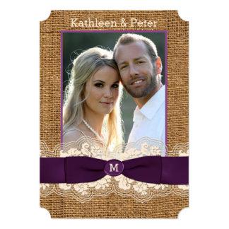 Convite de casamento da FOTO do arco do laço de