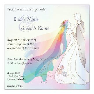Convite de casamento da noiva & do noivo do