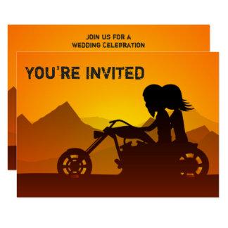 Convite de casamento das montanhas da motocicleta