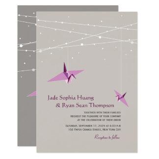 Convite de casamento de papel do asiático da luz