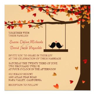Convite de casamento de queda do carvalho dos