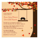 Convite de casamento de queda do carvalho dos cora