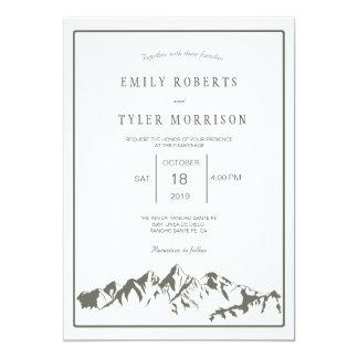 Convite de casamento de refrescamento da floresta