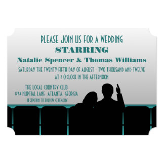 Convite de casamento do cinema, cerceta