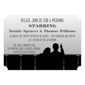 Convite de casamento do cinema, cinza