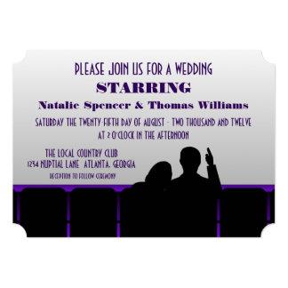 Convite de casamento do cinema, roxo