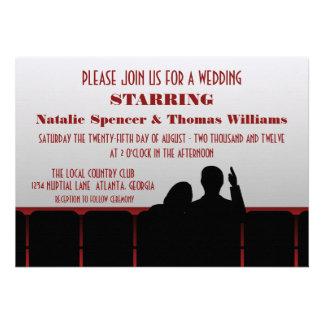 Convite de casamento do cinema, vermelho