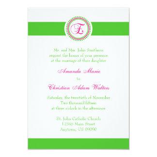 Convite de casamento do círculo do ponto do