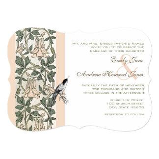 Convite de casamento do colibri da madressilva de