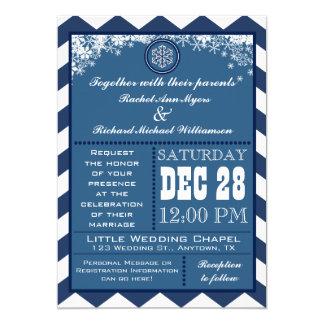 Convite de casamento do floco de neve do teste