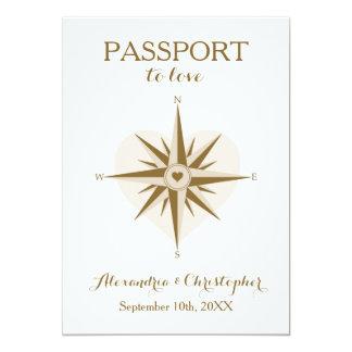 Convite de casamento do passaporte - tema do