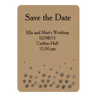 Convite de casamento do prazer da margarida