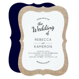 Convite de casamento do quadro de serapilheira e