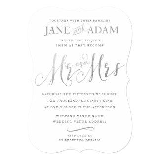 Convite de casamento elegante do Sr. & da Sra.