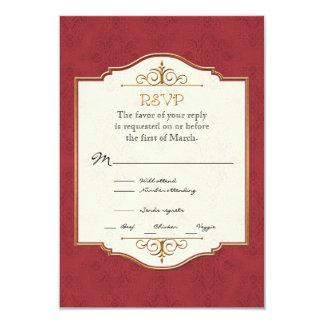 Convite de casamento elegante formal clássico do