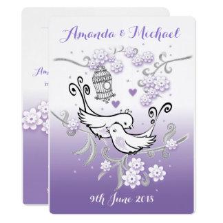 Convite de casamento feito sob encomenda dos