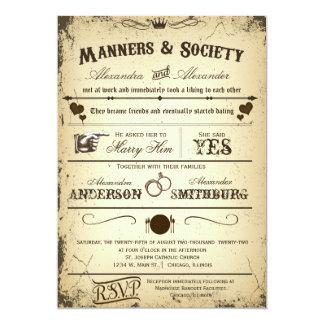 Convite de casamento formal 2 do argumento de