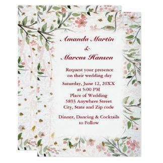 Convite de casamento japonês das flores das flores