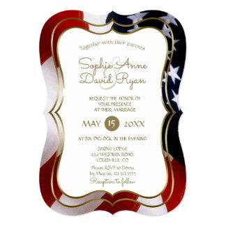 Convite de casamento original elegante do ouro da