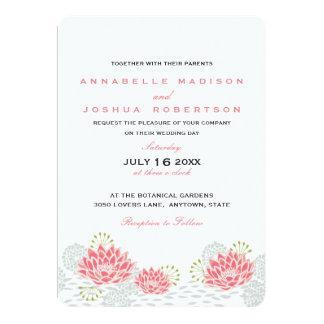 Convite de casamento pintado de Lillies da água