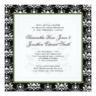 Convite de casamento preto & branco da foto do