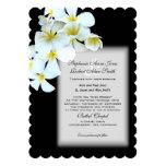 Convite de casamento preto feito sob encomenda das