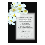 Convite de casamento preto feito sob encomenda das convite 12.7 x 17.78cm