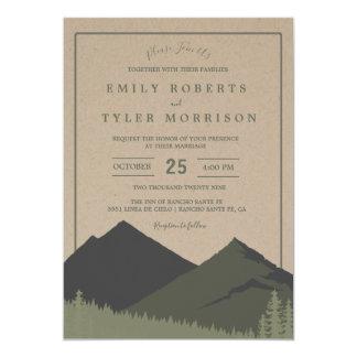 Convite de casamento rústico da floresta da