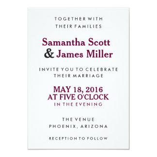 Convite de casamento simples & elegante de |