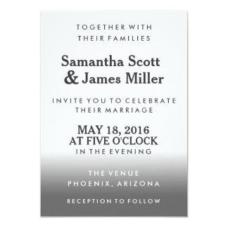 Convite de casamento simples & elegante do