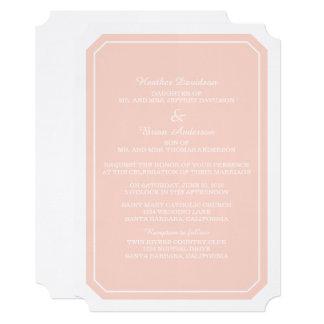 Convite de casamento simplesmente elegante do