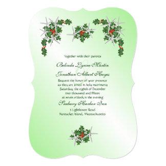 Convite de casamento tropical do Natal da estrela